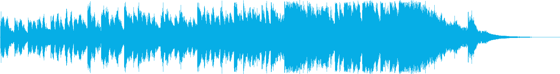 30秒CM用BGM(オーケストラ)の再生済みの波形