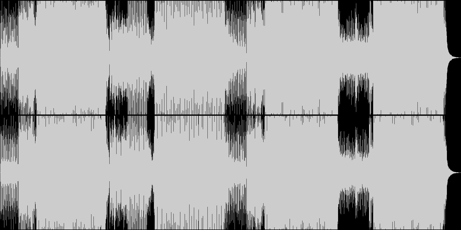 ゲーム用楽しいシンセ楽曲のEDMの未再生の波形
