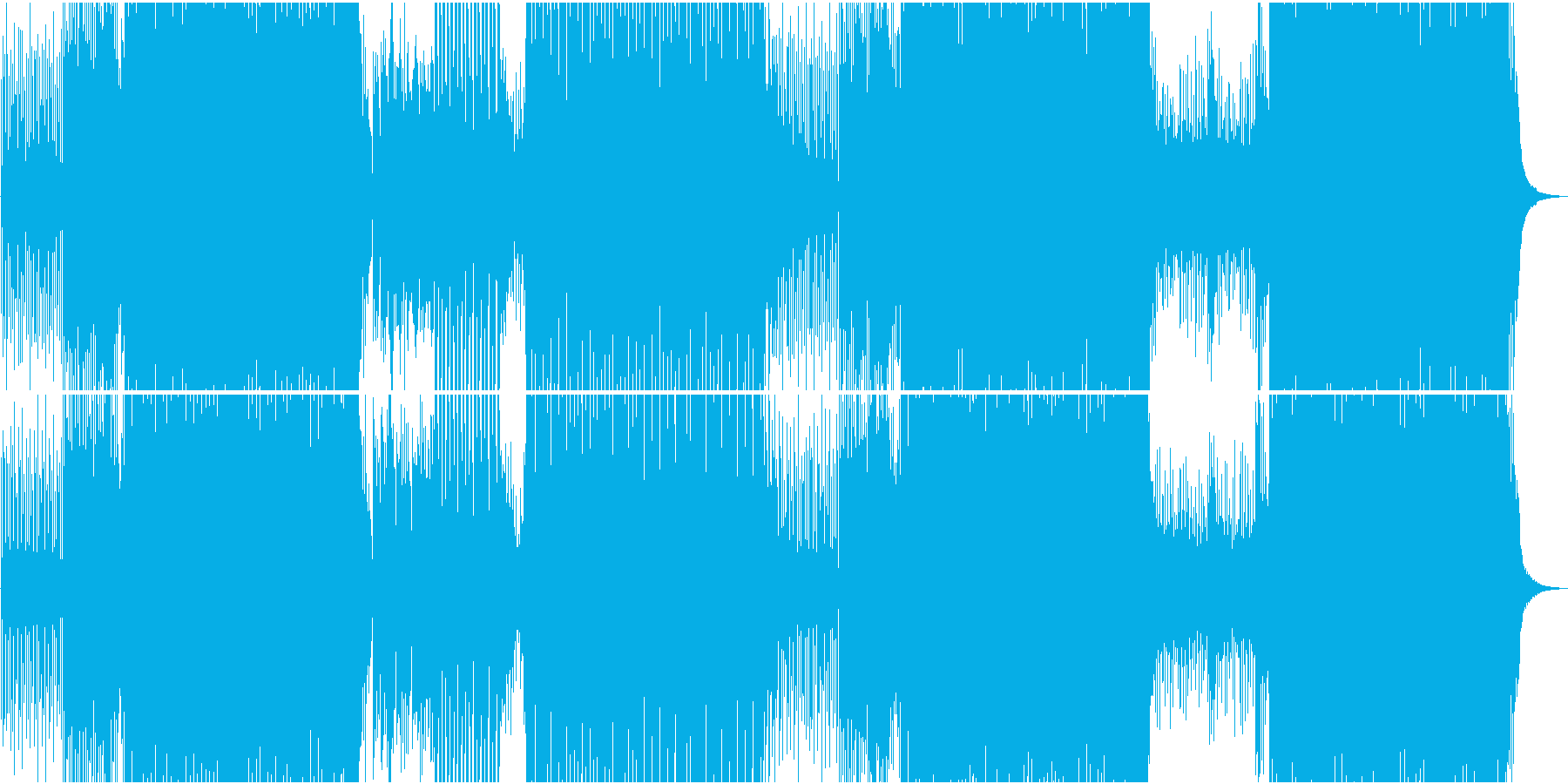 ゲーム用楽しいシンセ楽曲のEDMの再生済みの波形