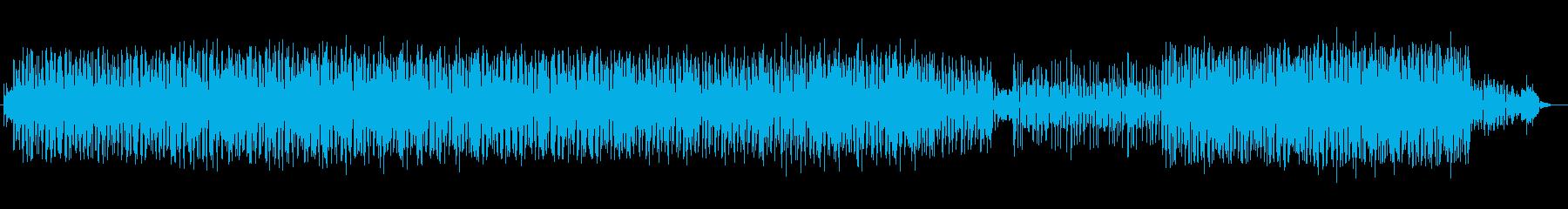 緩やかで穏やかなシンセメロディーの再生済みの波形