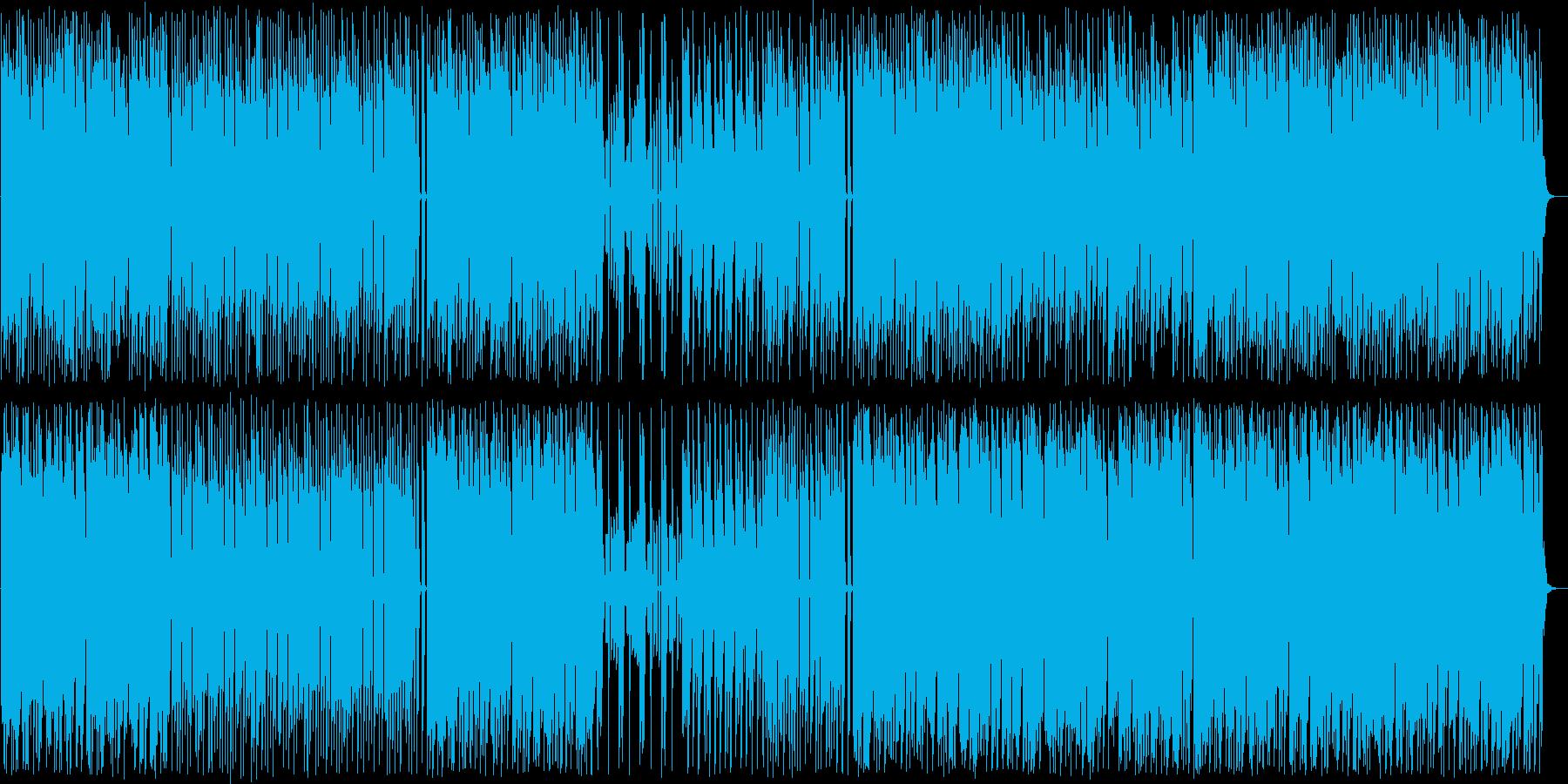 弾むようなリズムが楽しい和風ポップスの再生済みの波形