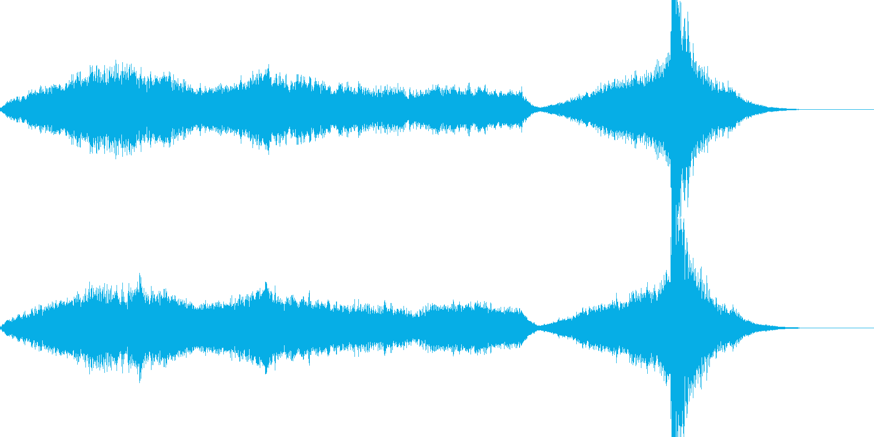 ミステリアスなホラーの曲の再生済みの波形