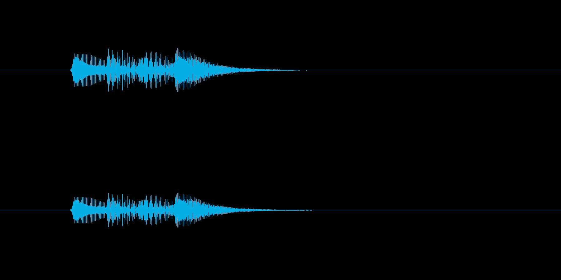 フンファン(シンプル、短い)の再生済みの波形