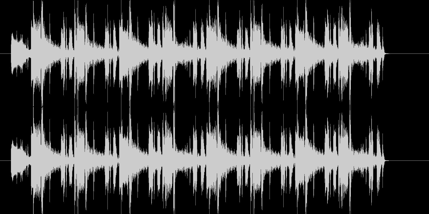 オシャレなR&B系BGMの未再生の波形