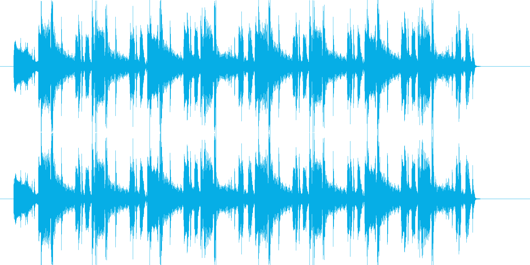 オシャレなR&B系BGMの再生済みの波形