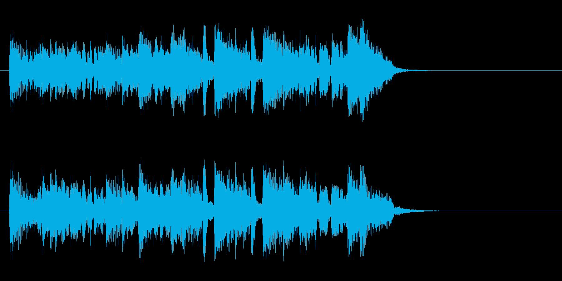 軽快なポップフュージョン(イントロ)の再生済みの波形
