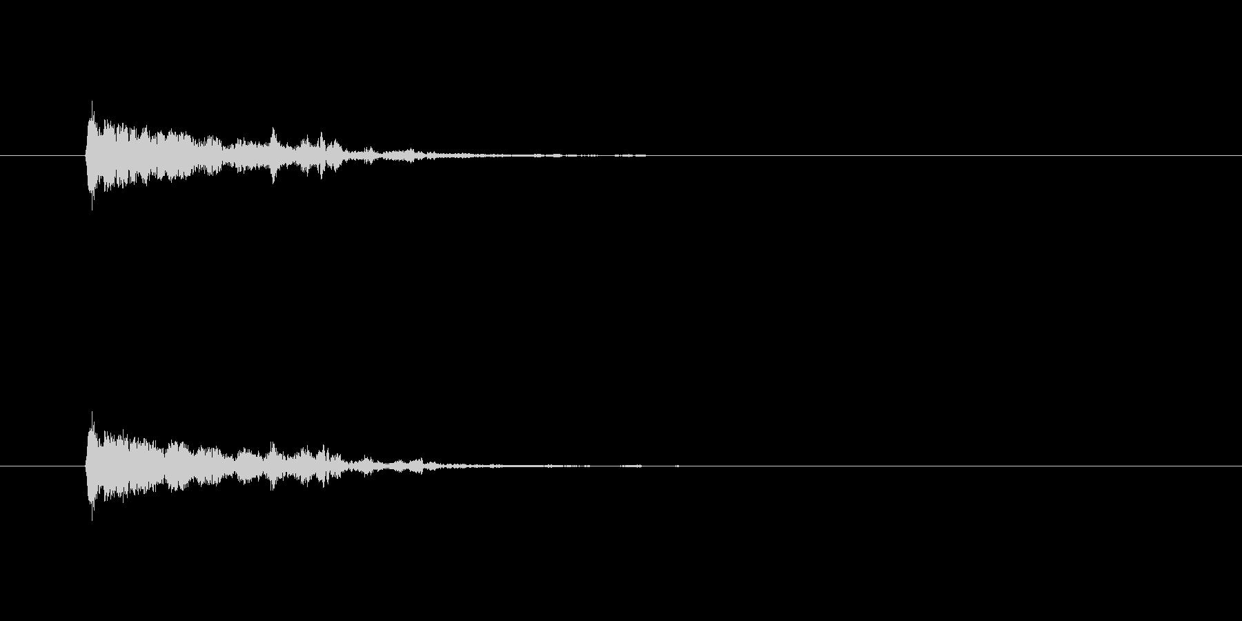 【アクセント38-1】の未再生の波形