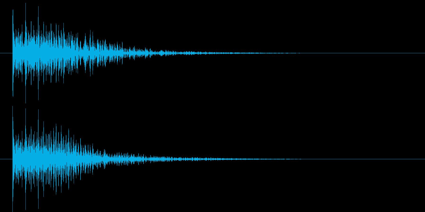 ドドドン(和太鼓)の再生済みの波形