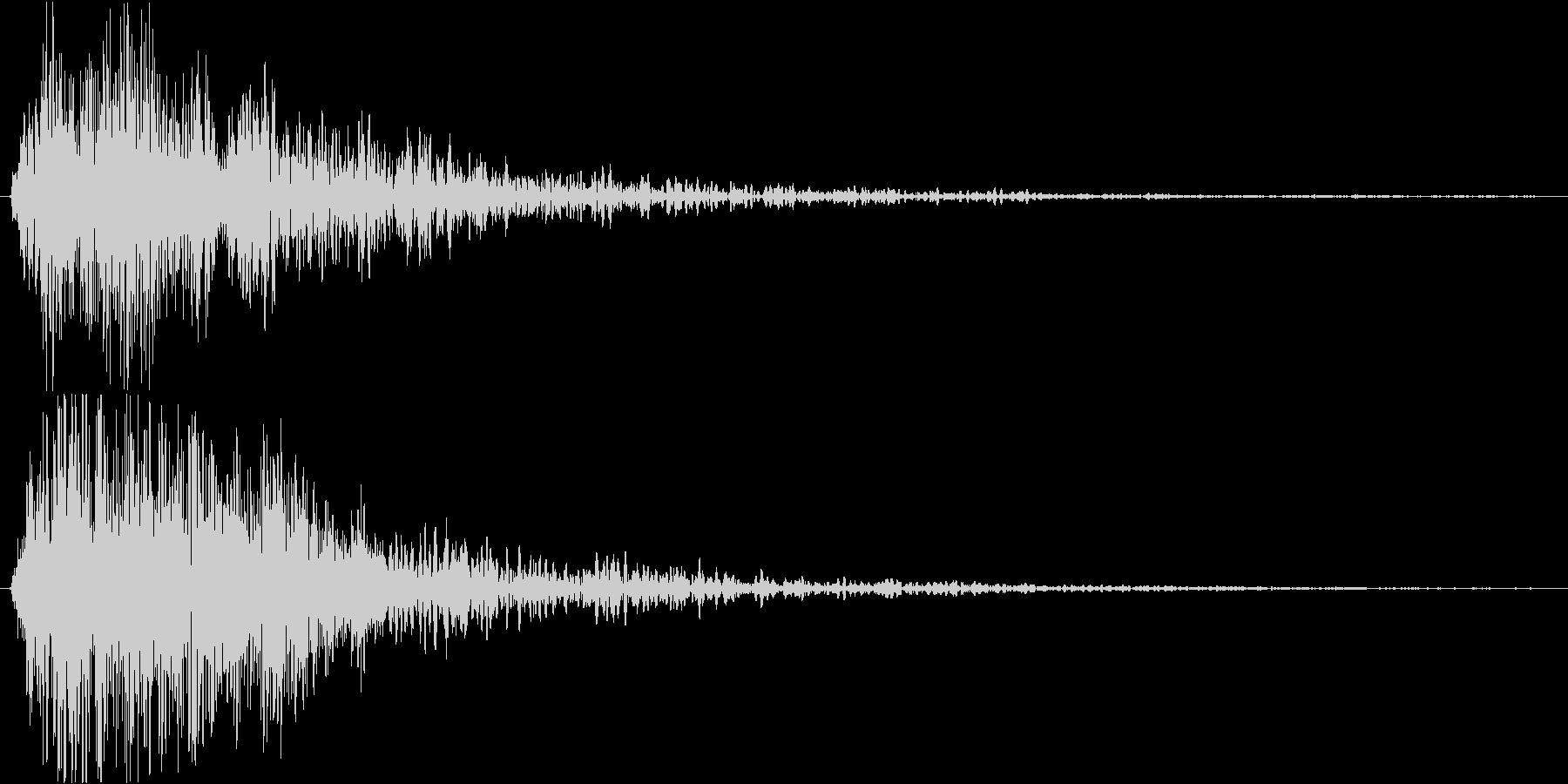 ホラー系のテロップSEの未再生の波形
