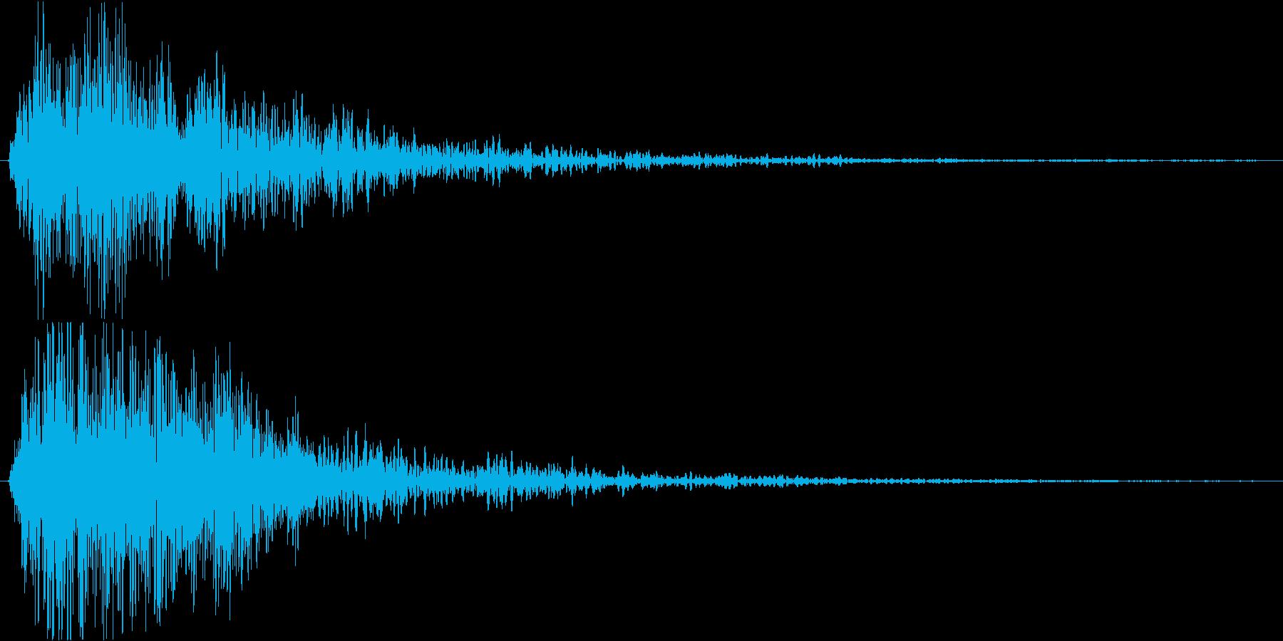 ホラー系のテロップSEの再生済みの波形