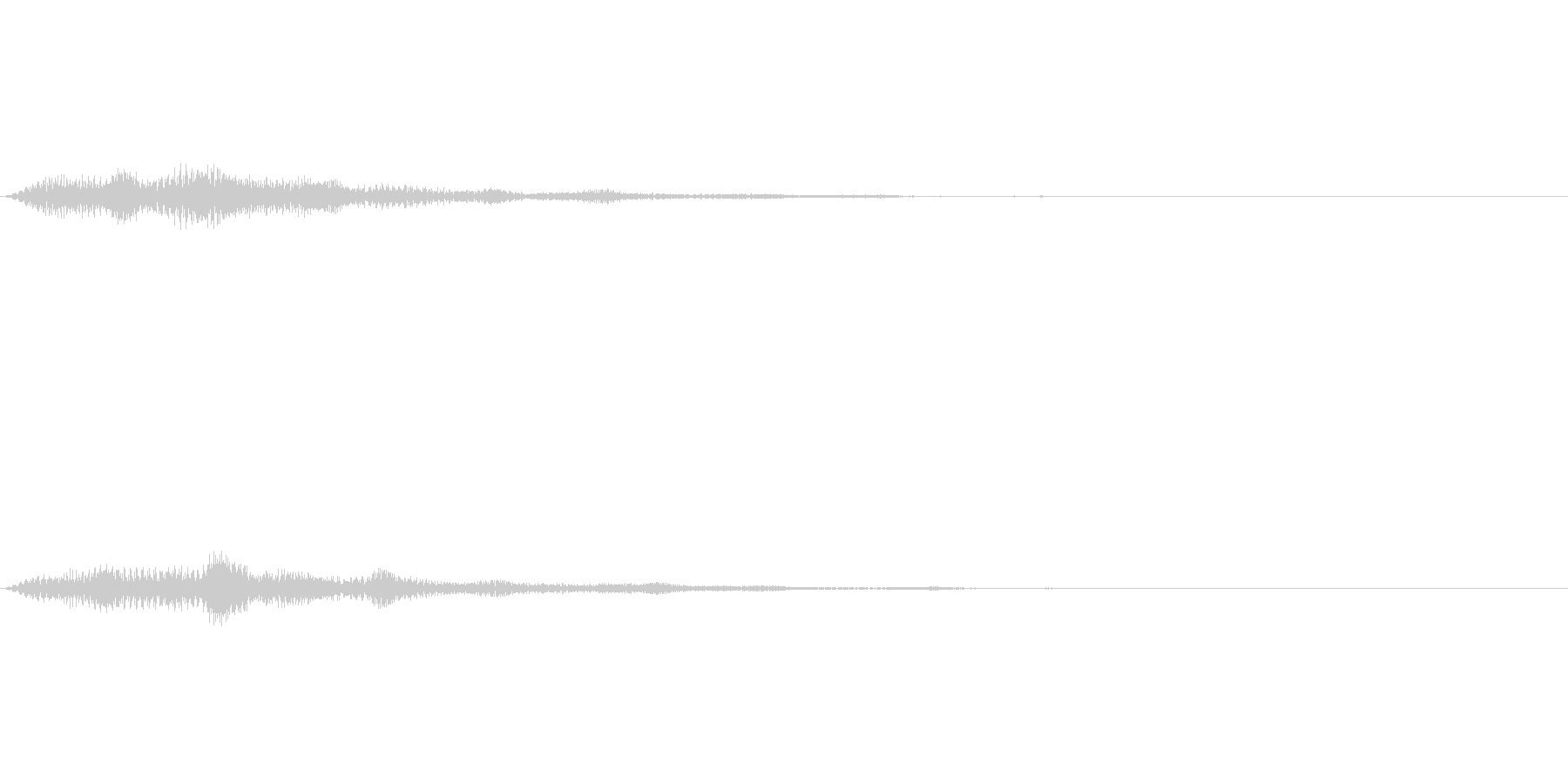 軽いタッチのボタン操作音の未再生の波形