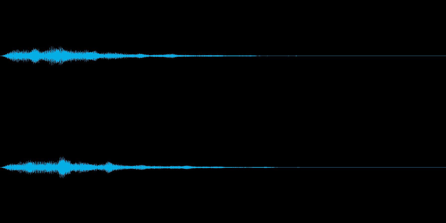 軽いタッチのボタン操作音の再生済みの波形