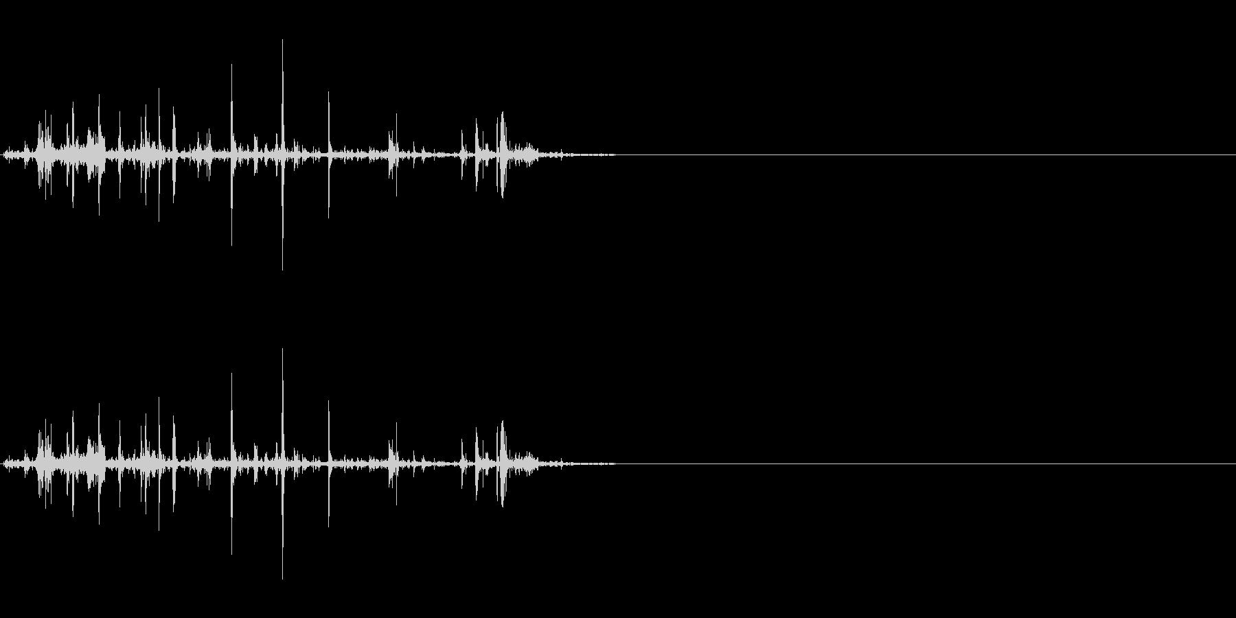 折れる音02の未再生の波形