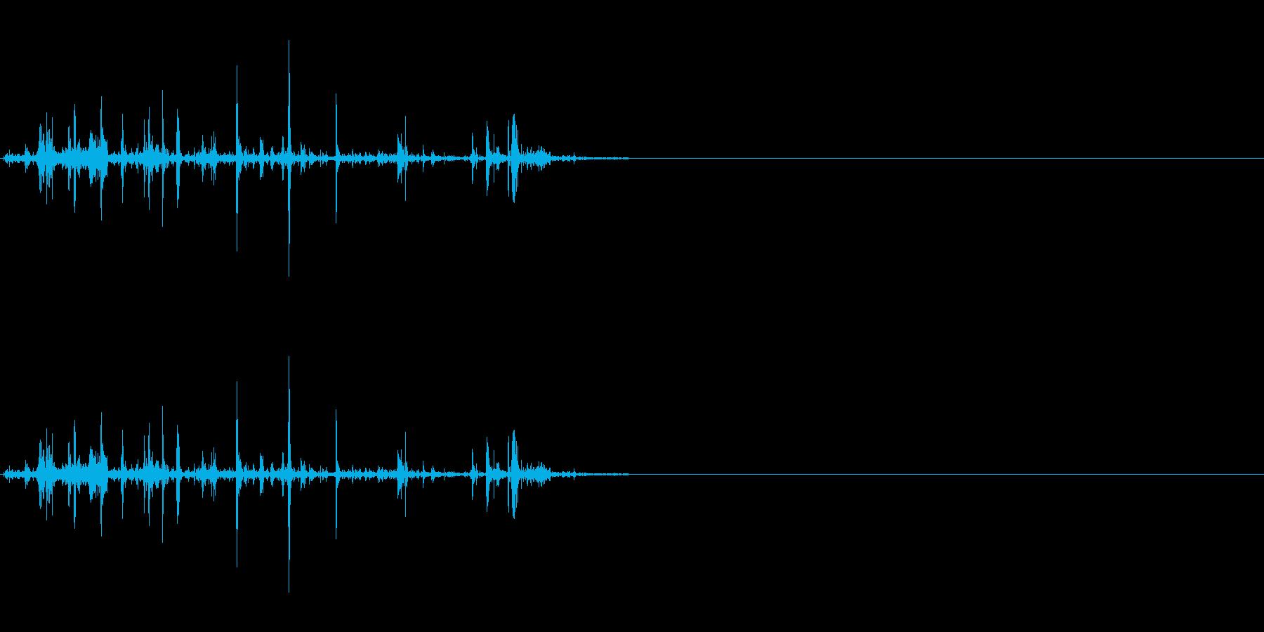 折れる音02の再生済みの波形