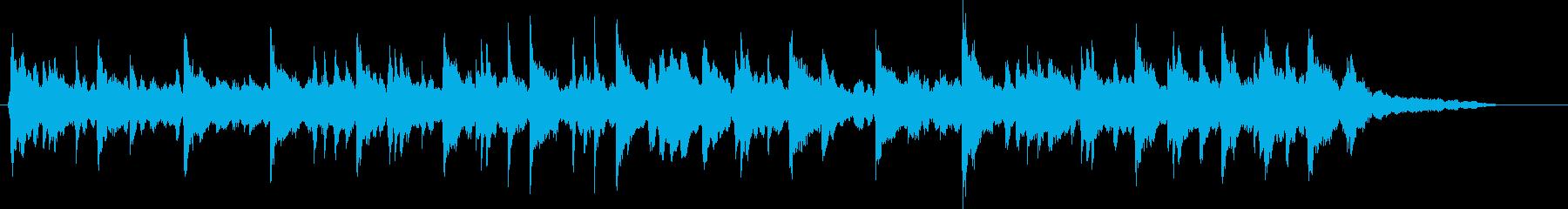 ピアノを使用した落ち着いたバラードの再生済みの波形