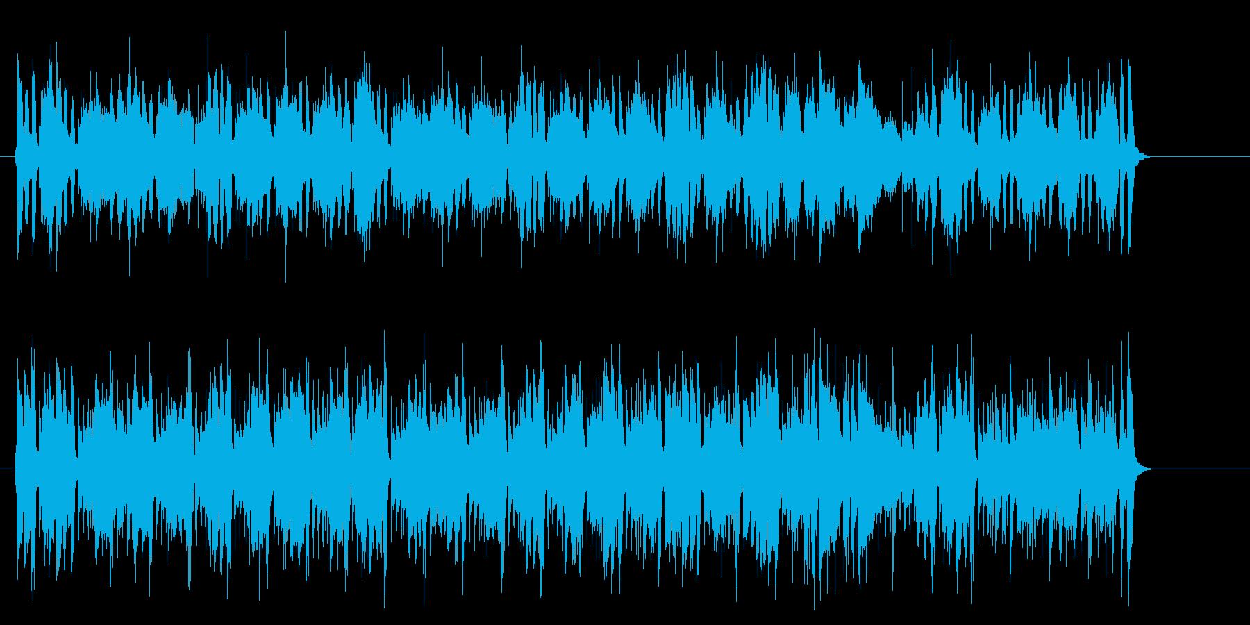 シャッフルのアコースティックポップスの再生済みの波形