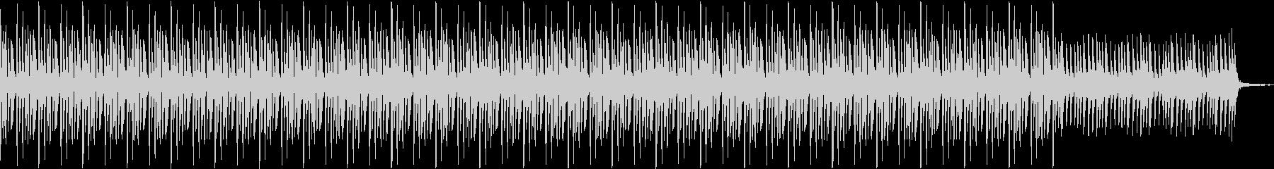 暗めのテクノ風楽曲:事件の報道のBGMの未再生の波形