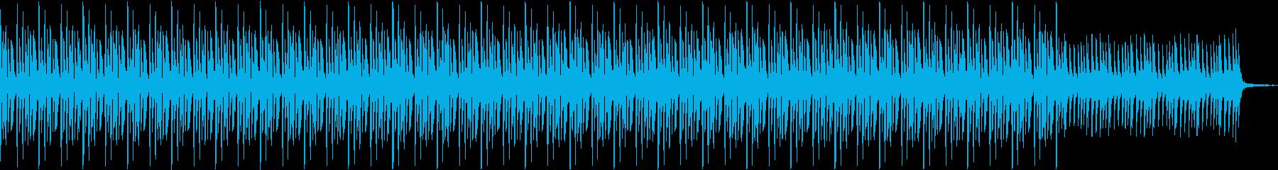 暗めのテクノ風楽曲:事件の報道のBGMの再生済みの波形