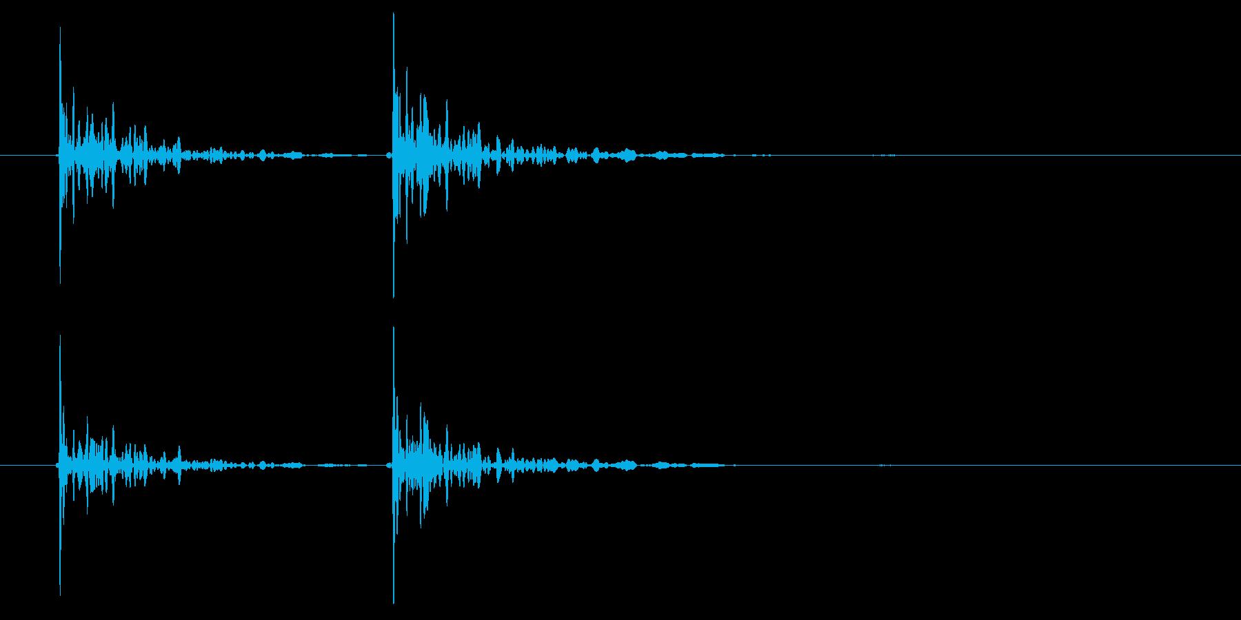 恐怖シリーズ6.ノック音(木製2回)の再生済みの波形