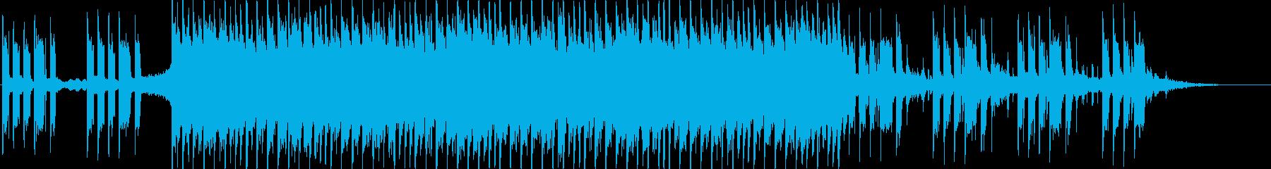 アクティブ&アップビートなポップチューンの再生済みの波形