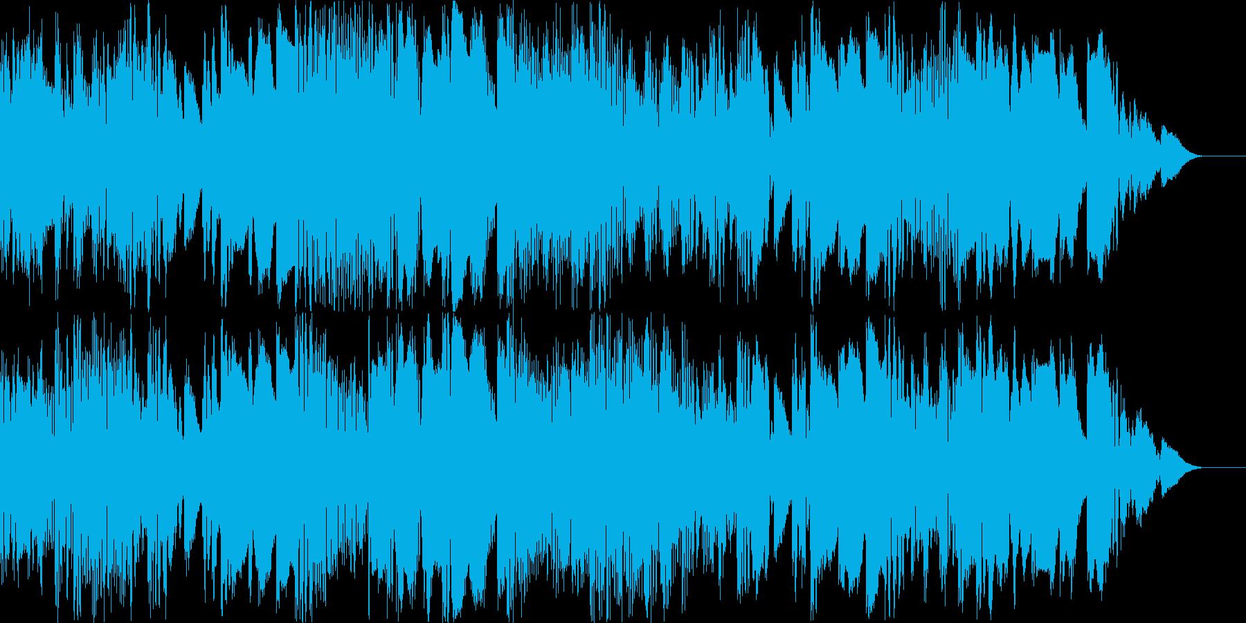 テクノのような雰囲気のポップスの再生済みの波形