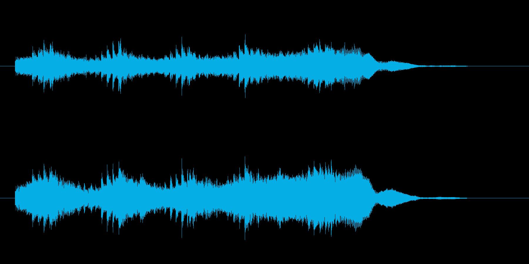 シリアスなシンセサイザー音(ミステリー)の再生済みの波形