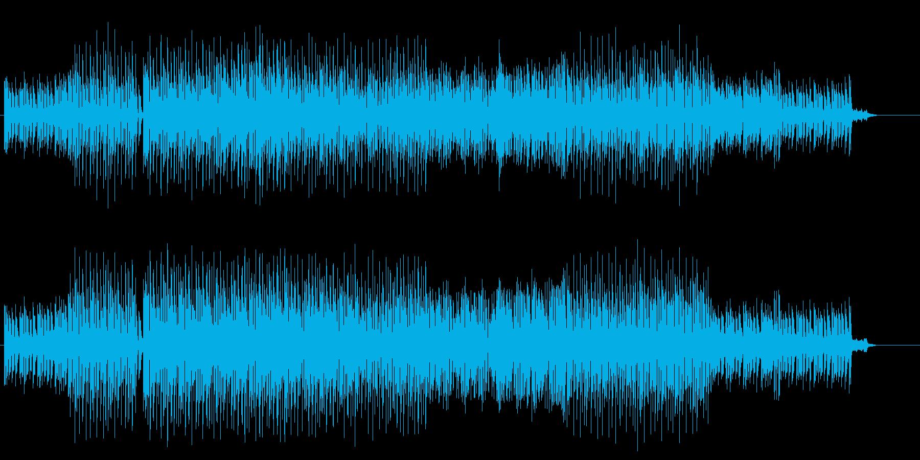 ハードボイルドなテクノサウンドの再生済みの波形