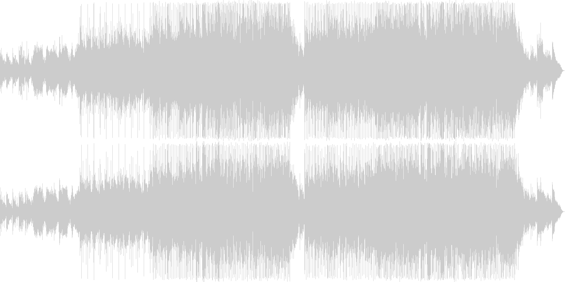 優しい雰囲気のバラード11の未再生の波形