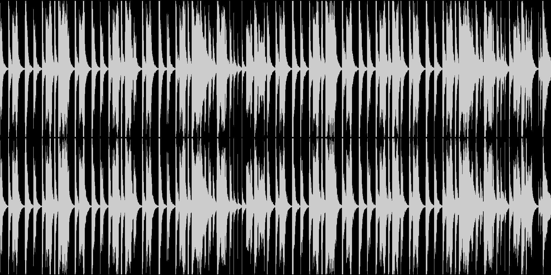 気の抜けたトンチンカンなシーンのBGMの未再生の波形