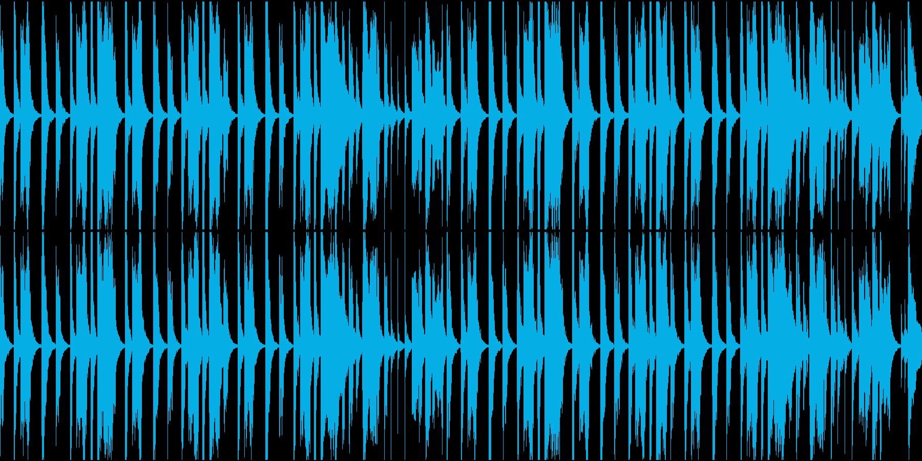 気の抜けたトンチンカンなシーンのBGMの再生済みの波形