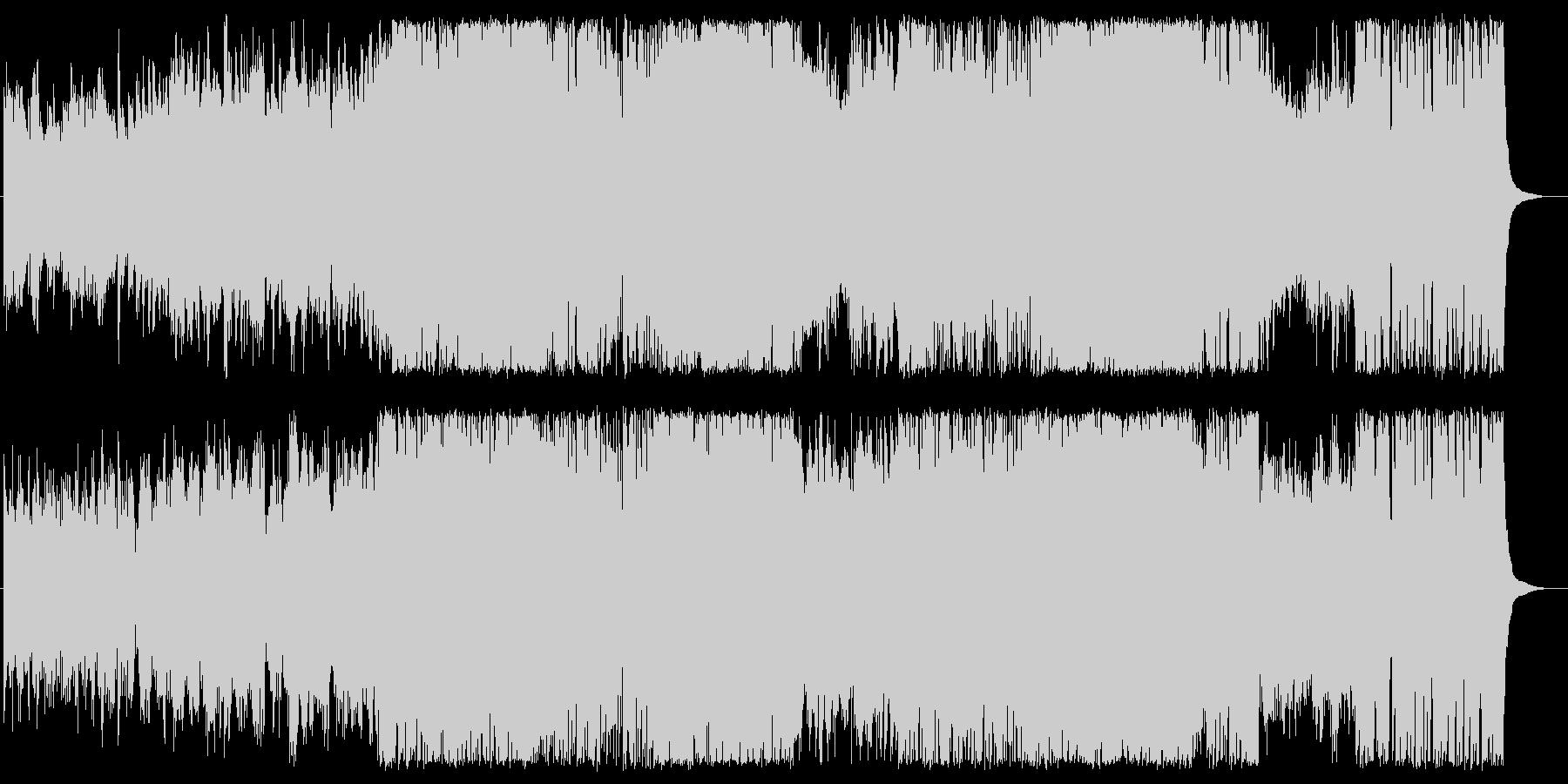 企業VP映像、ピアノ爽やかで前向きな曲の未再生の波形