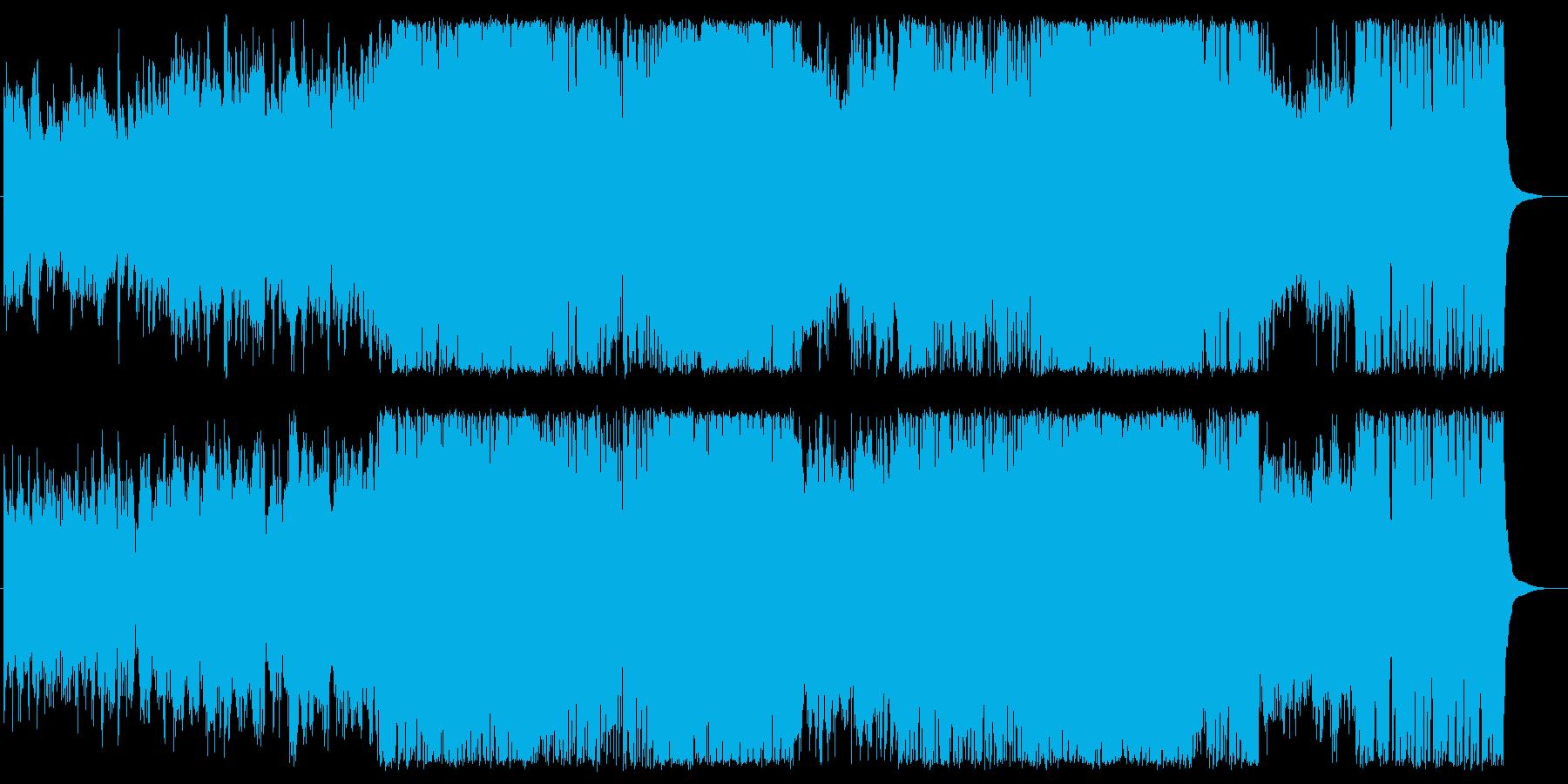 企業VP映像、ピアノ爽やかで前向きな曲の再生済みの波形