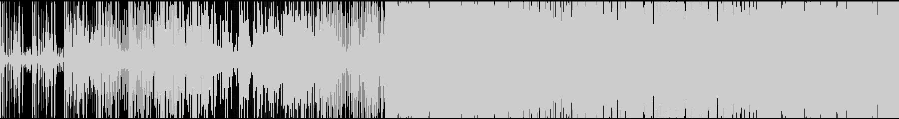 インド風戦闘曲。ループ素材の未再生の波形