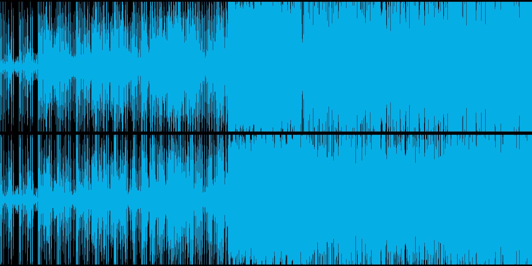 インド風戦闘曲。ループ素材の再生済みの波形