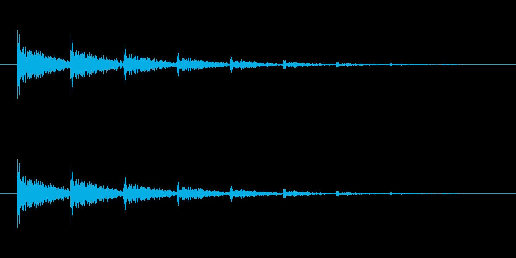 【アクセント11-3】の再生済みの波形