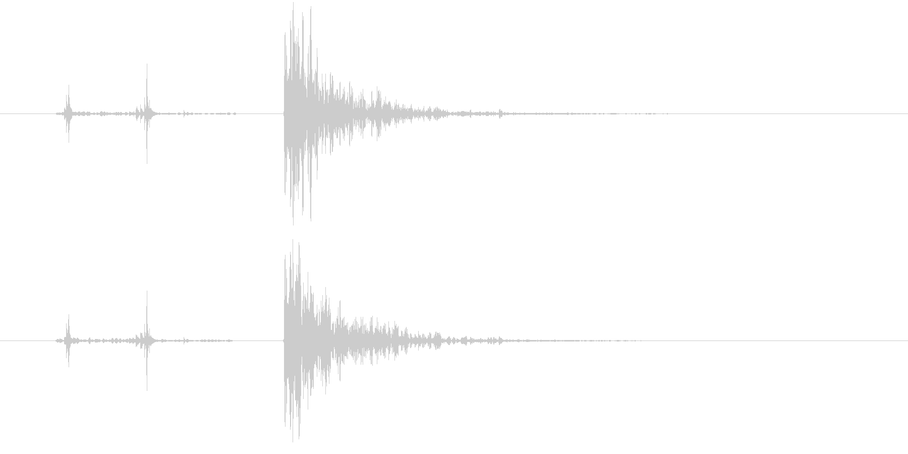 178_ガン1の未再生の波形