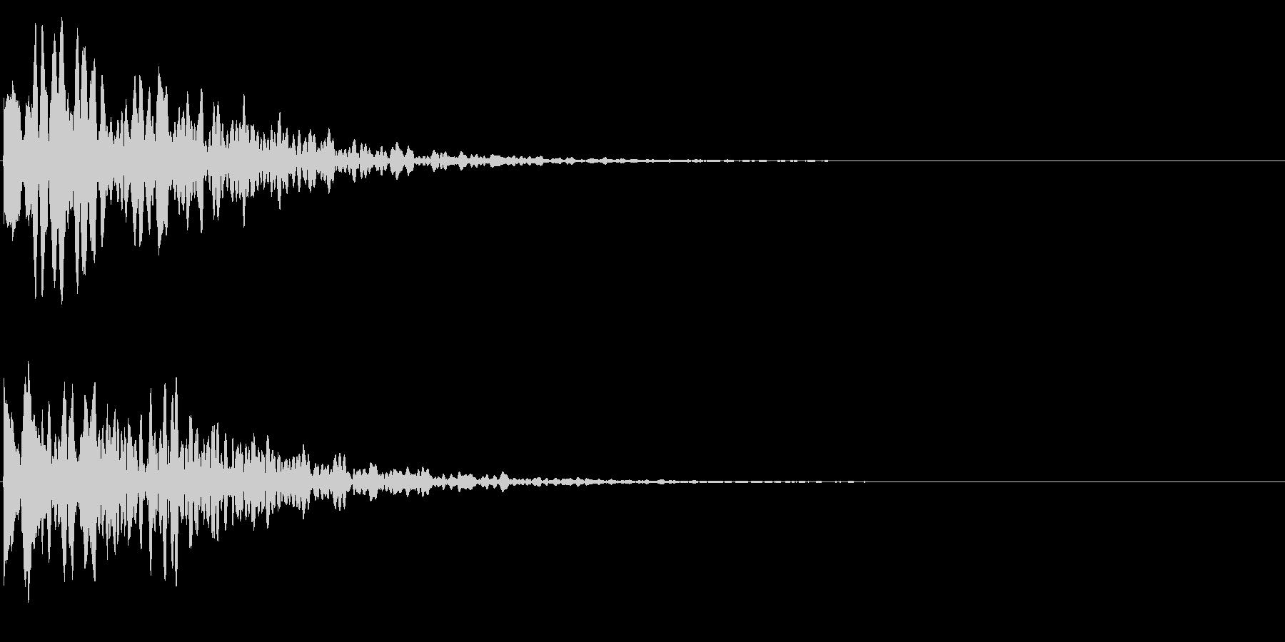 ゲームスタート、決定、ボタン音-125の未再生の波形