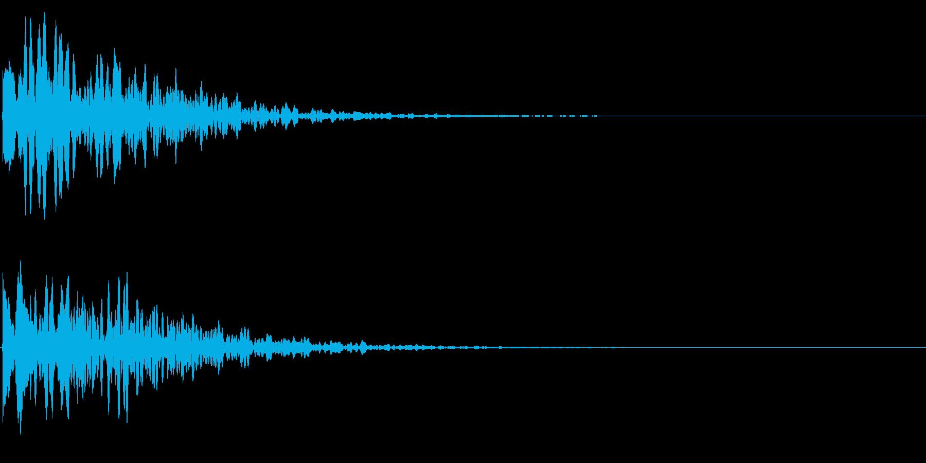 ゲームスタート、決定、ボタン音-125の再生済みの波形