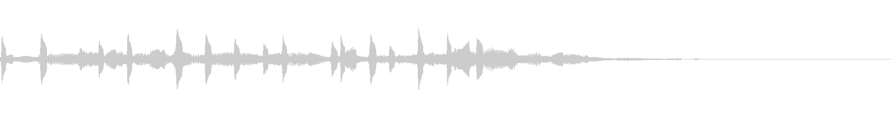 壊れた音の未再生の波形