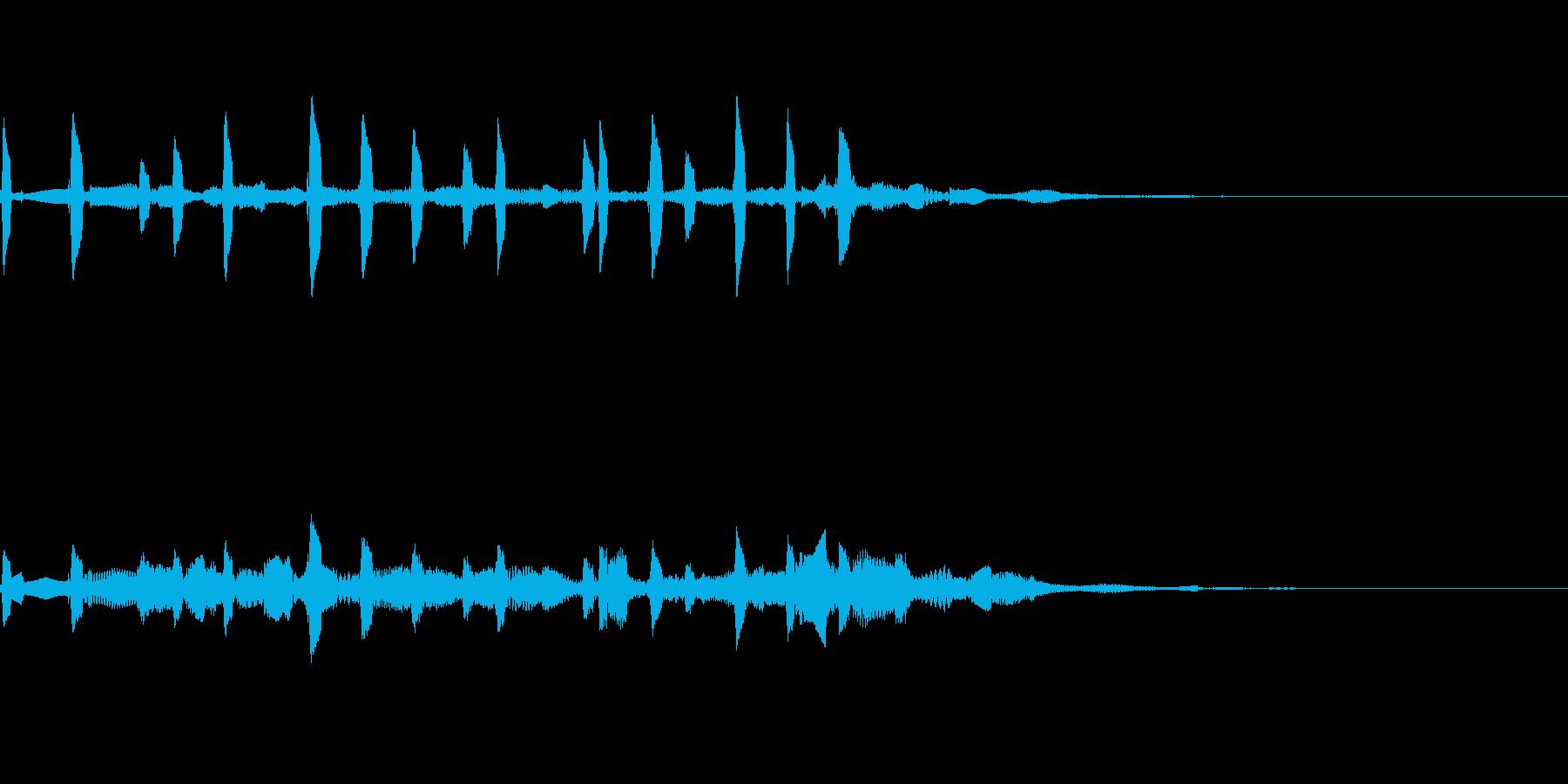 壊れた音の再生済みの波形