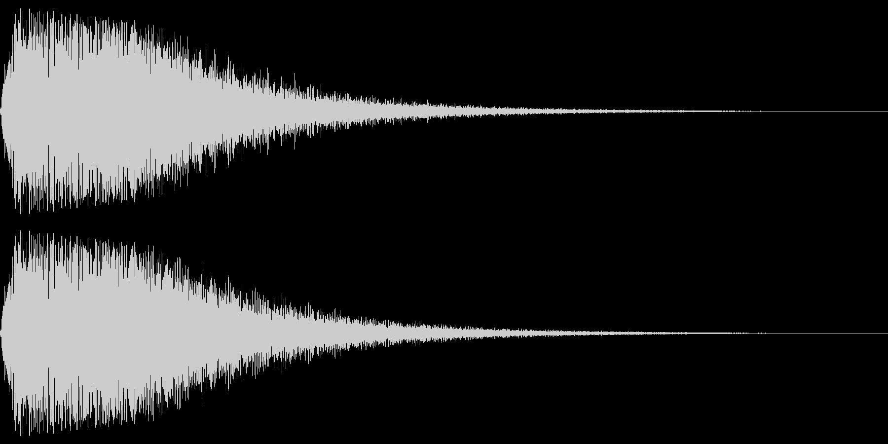 衝撃音(ギョワーン)の未再生の波形