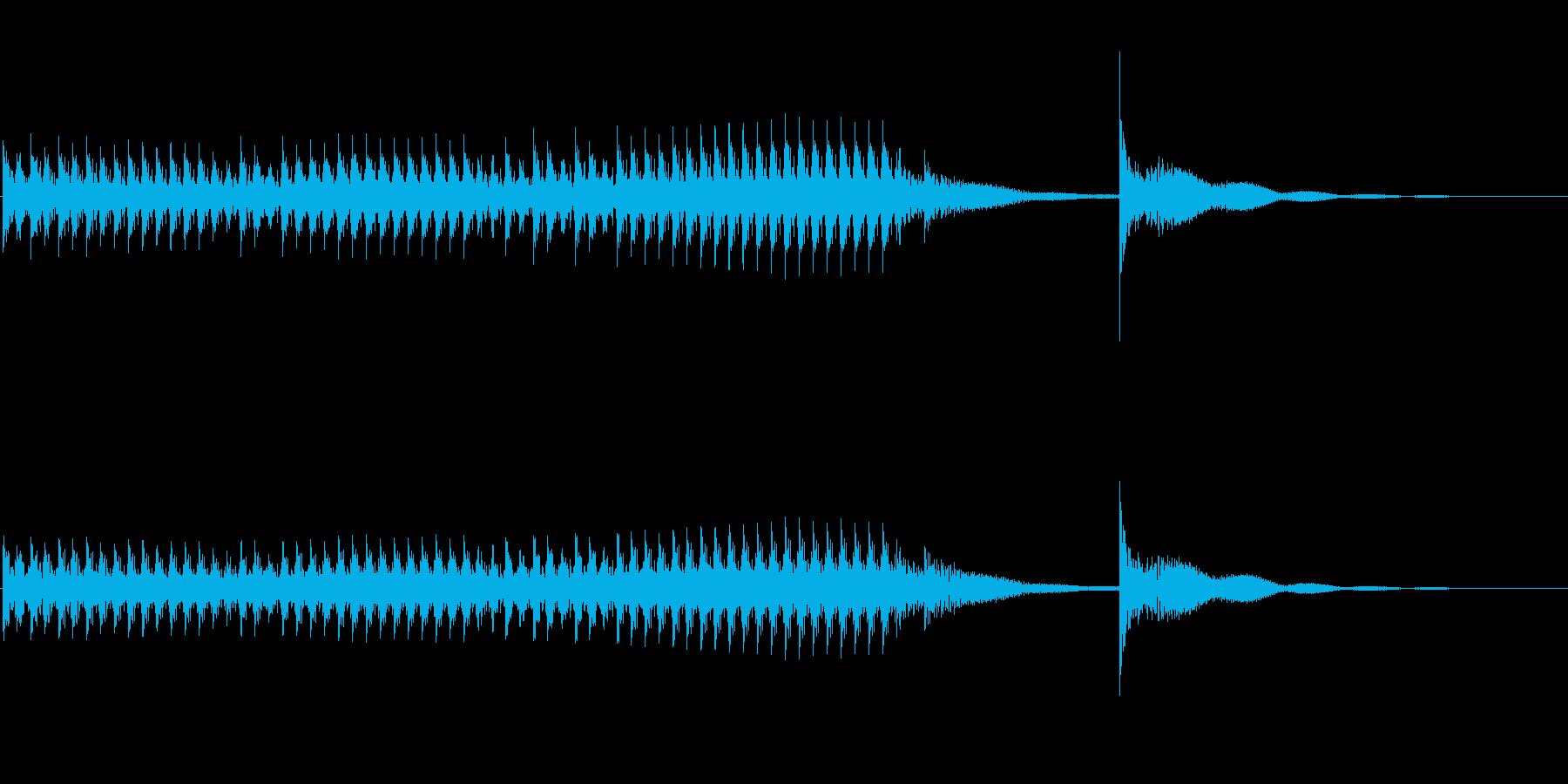 どんどんどんどん・・どん!ドラムロールの再生済みの波形
