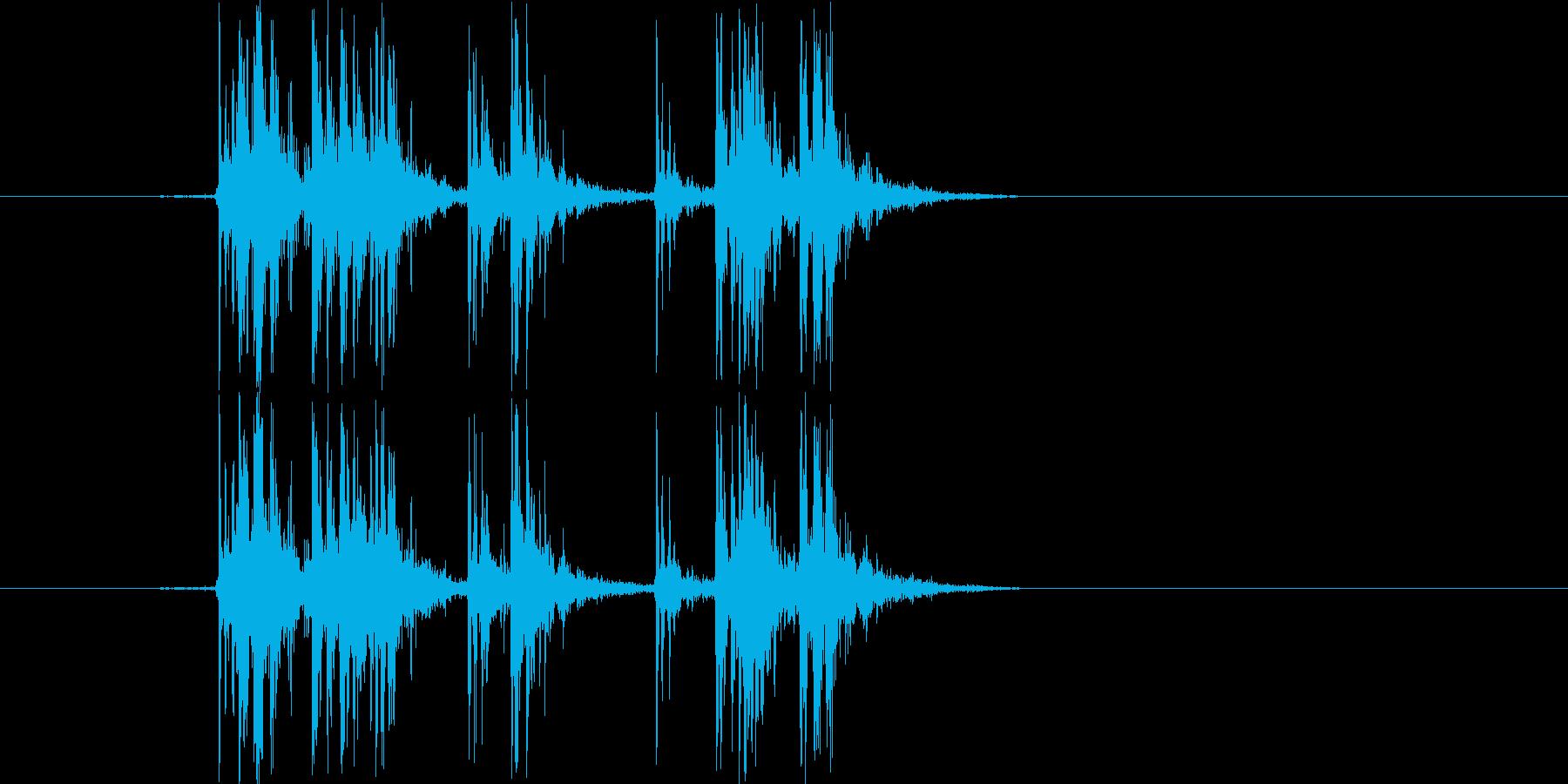 Synthで作成した爆竹SEです。マイ…の再生済みの波形