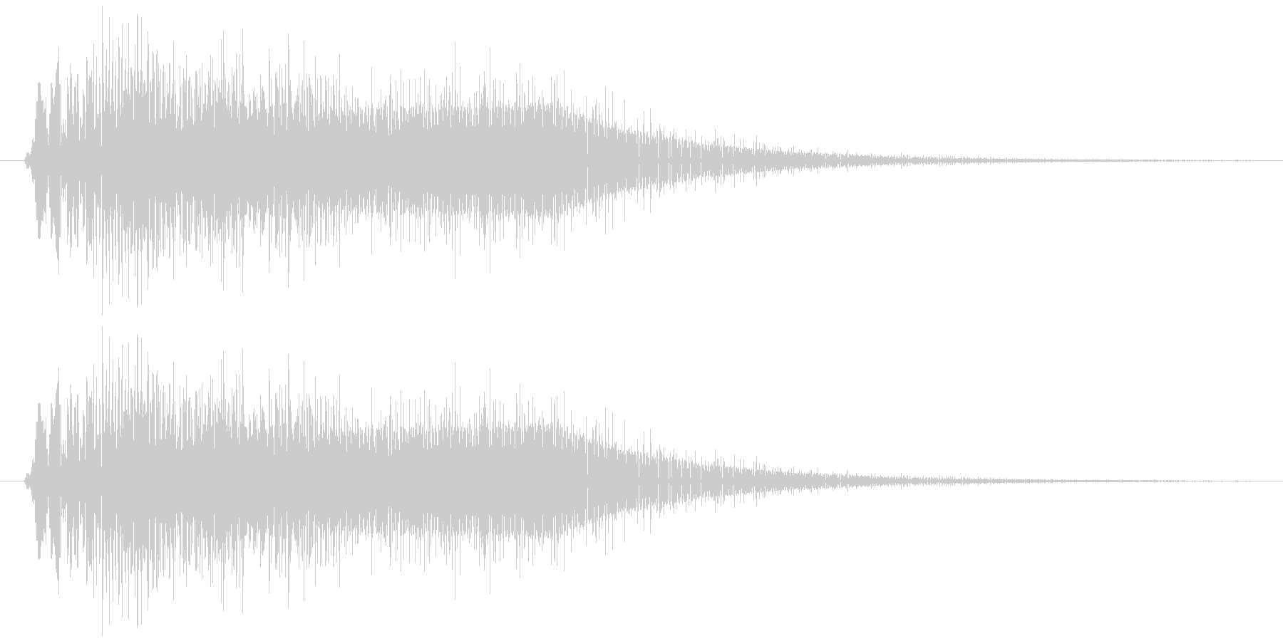サウンドロゴ9の未再生の波形