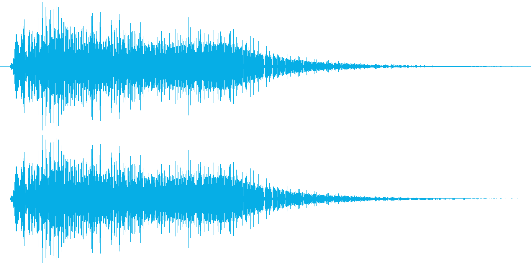 サウンドロゴ9の再生済みの波形