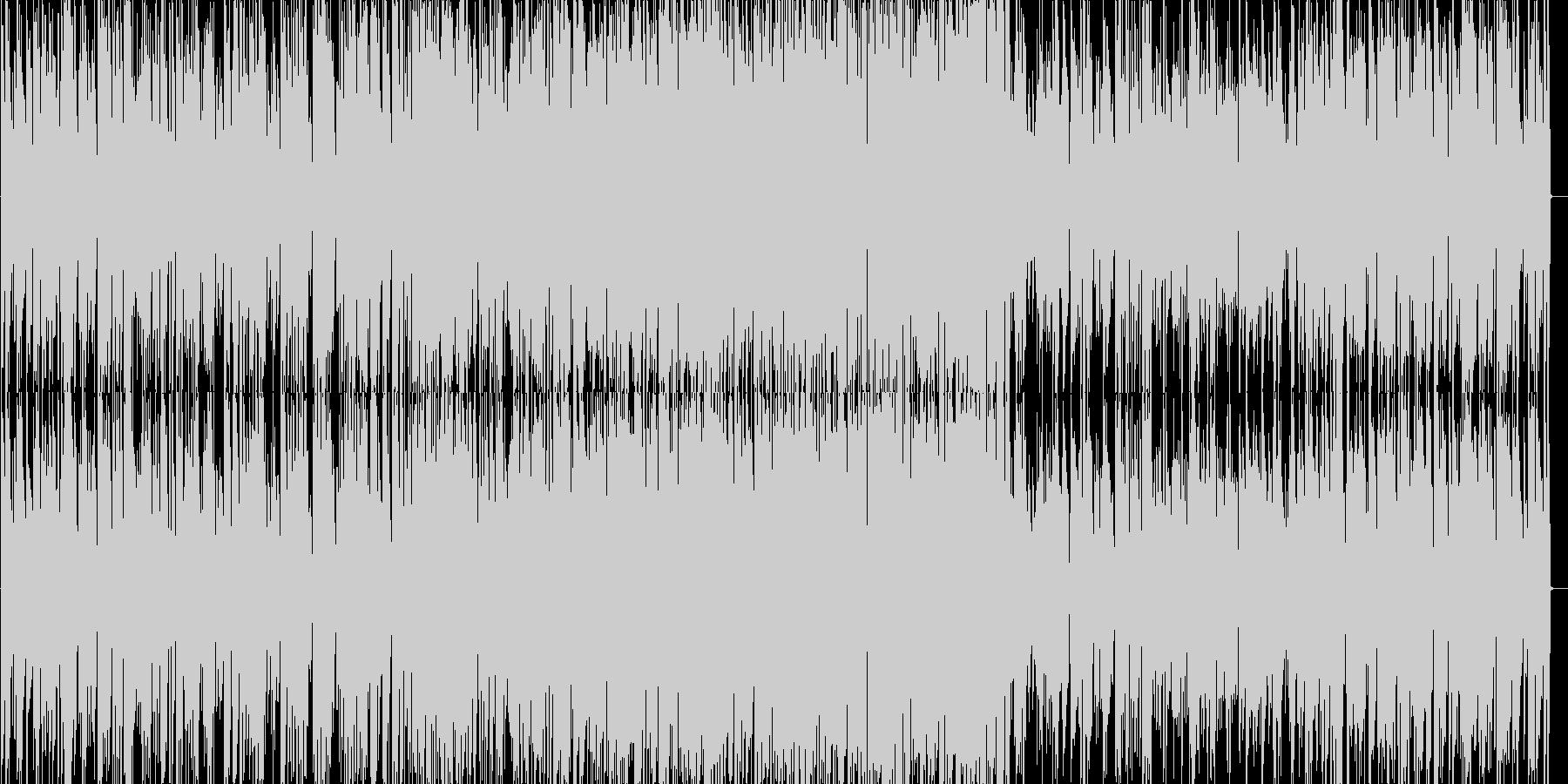 軽快なジャズピアノトリオの未再生の波形