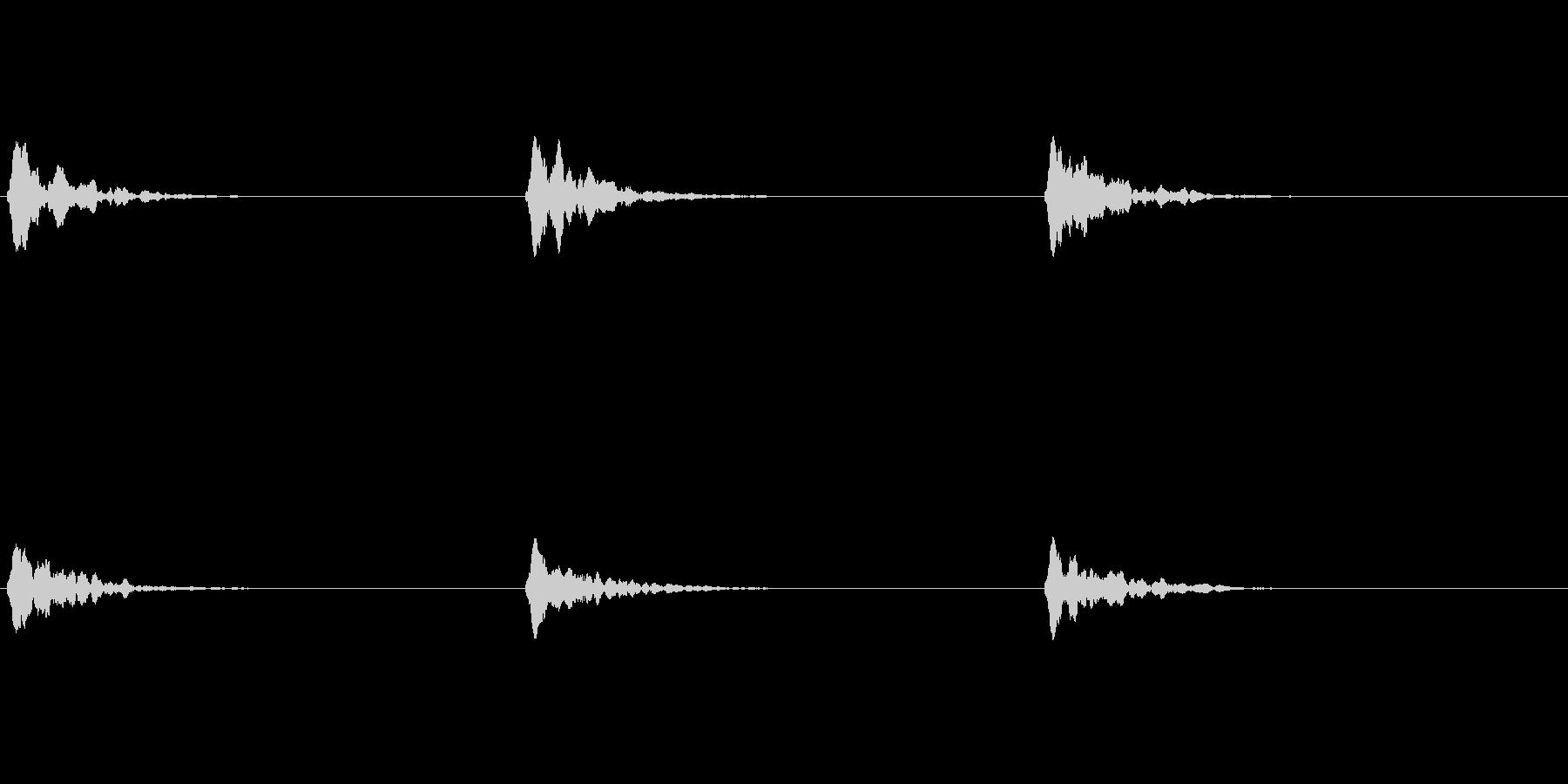 グロッケン(鉄琴)の音を少し加工しましたの未再生の波形