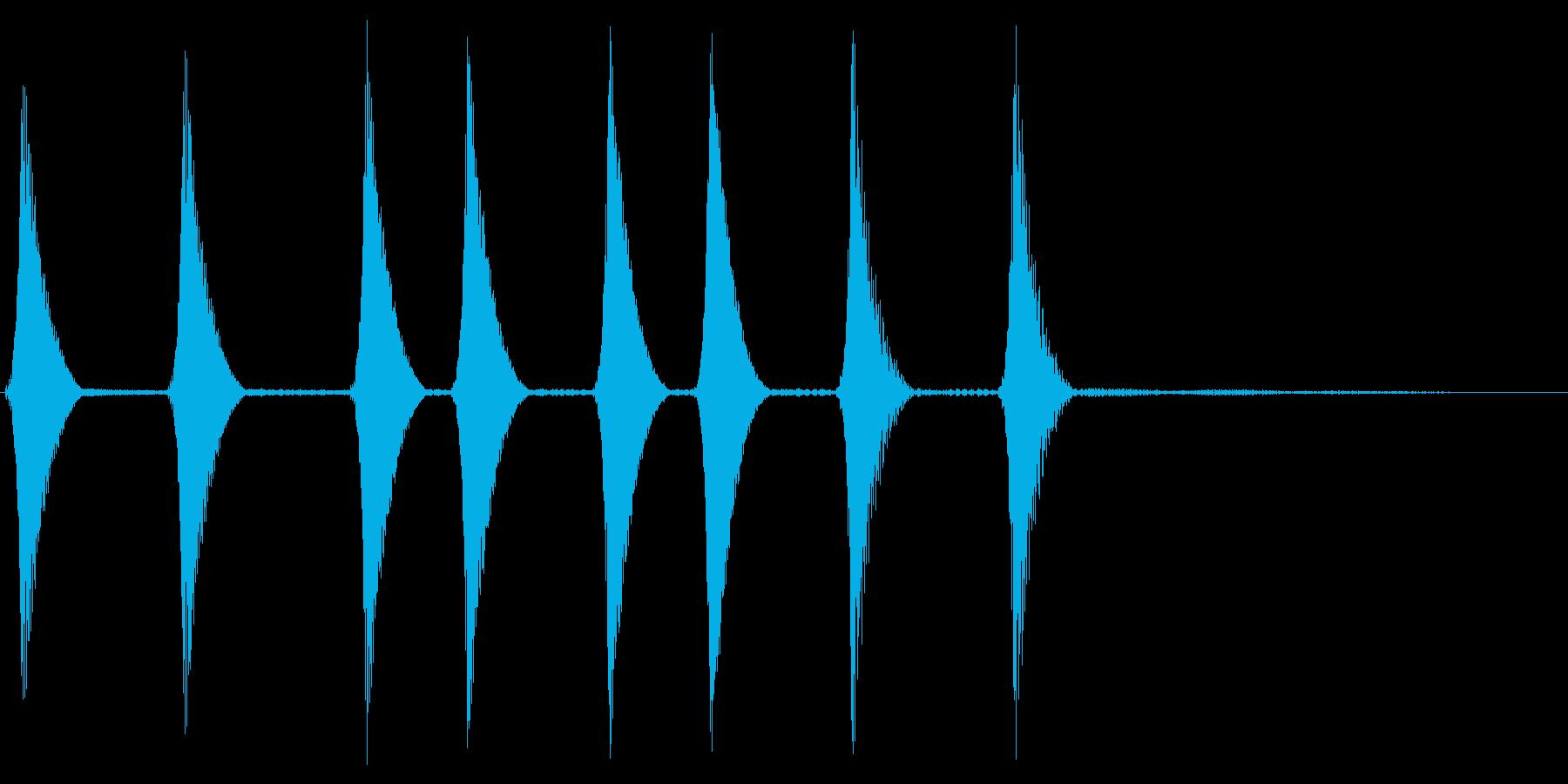 コロコロ。場面転換・めくる音(上昇)の再生済みの波形