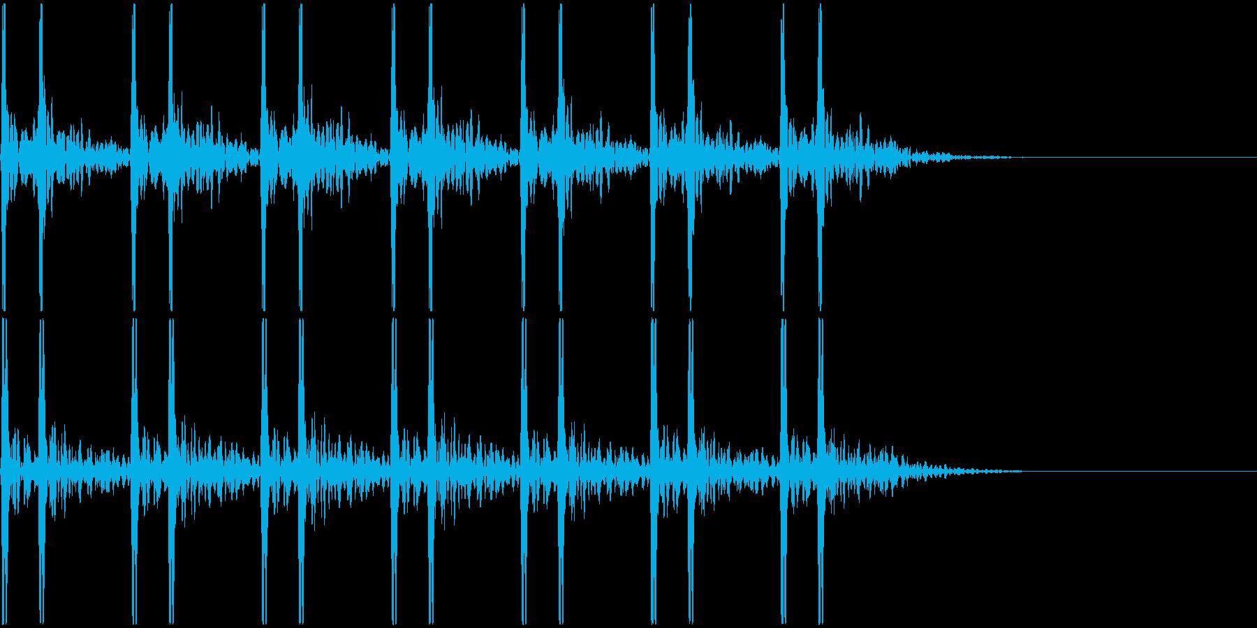 心臓-鼓動音 <7回>の再生済みの波形