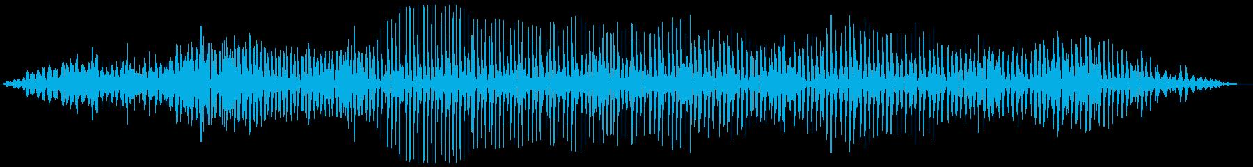 バララララ(プロペラ飛行機の様な効果音)の再生済みの波形